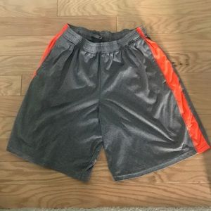Champion Mens Gray Orange Running Workout Shorts L